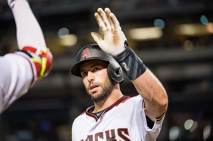 Arizona's Paul Goldschmidt hit a two-run homer in a 7-4 victory over the Angels. (File photo courtesy of Sarah Sachs/Arizona Diamondbacks)