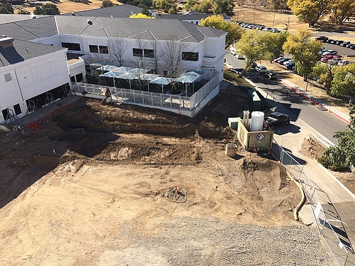 From a nearby rooftop, work on the Sterile Processing Service is visible adjacent to the VA's Community Living Center. The Center has received a one-star rating from the U.S. Department of Veterans Affairs, the lowest possible score. (Nanci Hutson/Daily Courier file photo)