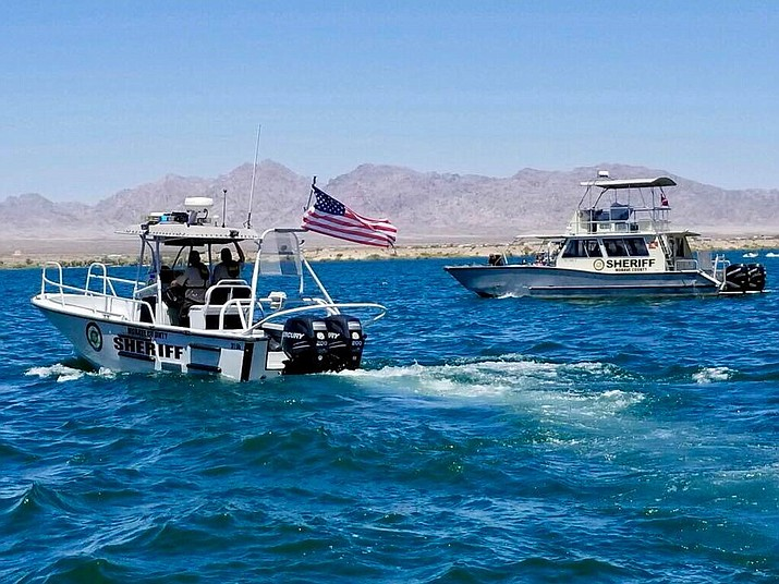 Mohave County Sheriff's Office boating deputies search for a missing man on Lake Havasu. (Photo by Mohave County Sheriff's Office)