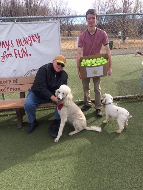 Ray Barnett, 20, right, saw a need and way to recycle used tennis balls in the area; and through the Yavapai College Honors Society created a local recycling program at the Yavapai College Tennis Facility.