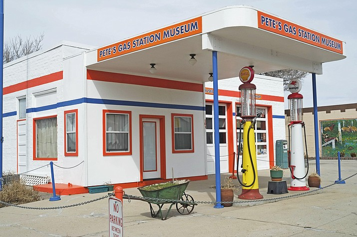 Pete's Gas Station Museum is one of many landmarks along Route 66 in Williams. (Loretta Yerian/WGCN)