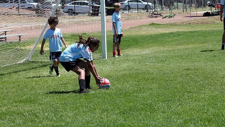 Photo highlights: Grand Canyon kids take a lesson at British Soccer Camp