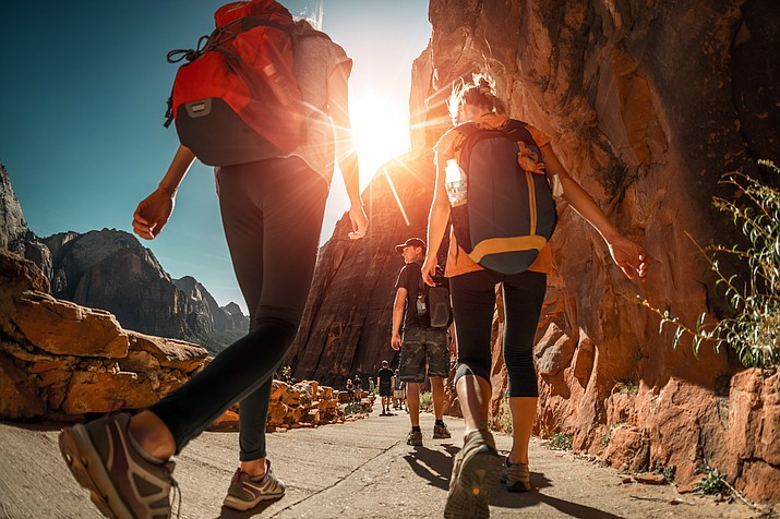 Park officials advise hiking either early or late to avoid extreme midday temperatures in the inner canyon. (Stock photo)