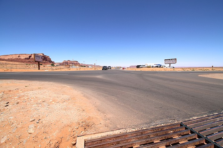 The intersection of U.S. Highway 163 and Monument Valley Road has a new roundabout. A groundbreaking was held June 12 in Monument Valley, Utah. (Navajo Nation Office of the Speaker)