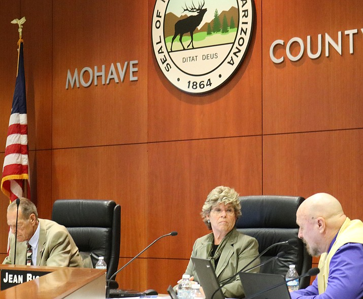 The Mohave County Board of Supervisors allocated funds to various cities throughout Mohave County for flood control improvements at its meeting Monday. (Travis Rains)