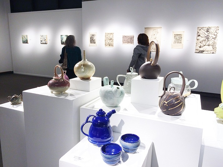 "The Yavapai College Art Gallery exhibit ""Transmission"" incorporates the works of nine artists working with ceramics, photographs and printmaking. The Opening Reception will be held from 5 to 7:30 p.m. Friday, June 22. (Sue Tone/Courier)"