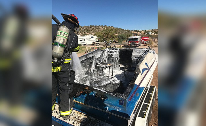 Upon arrival, crews found a boat fully engulfed in flames. The fire was quickly extinguished but the boat was a total loss.