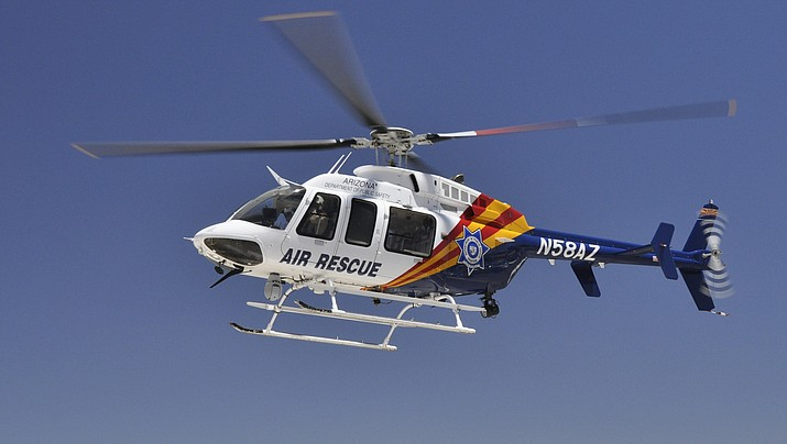 The Ranger One DPS helicopter and special weapons teams from surrounding communities are assisting with the search for a murder suspect. According to YCSO, the murder happened in Prescott Thursday morning, June 21, 2018. The search for the suspect is currently taking place in the Rimrock, Arizona area. (DPS file photo of Ranger One Rescue helicopter)