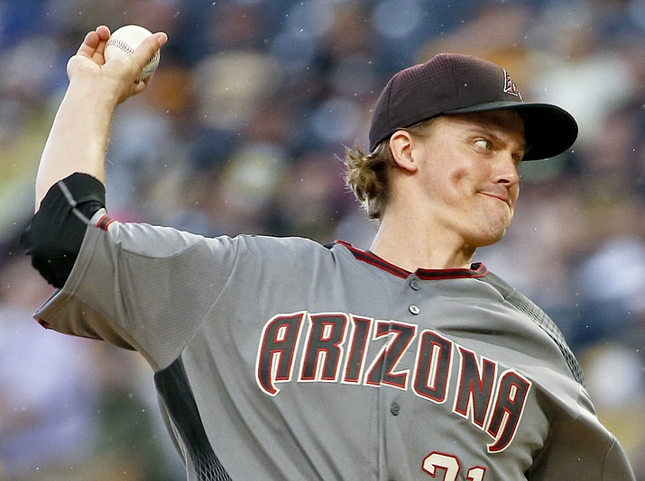 Arizona Diamondbacks starter Zack Greinke pitches against the Pittsburgh Pirates in the first inning of a baseball game, Saturday, June 23, 2018, in Pittsburgh. (Keith Srakocic/AP)