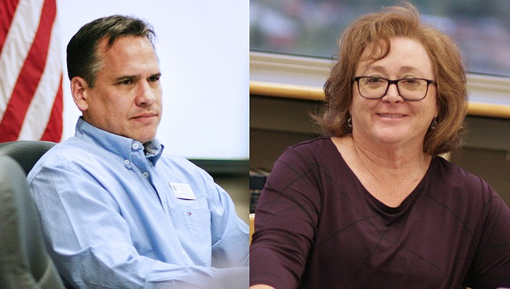 Trading Places? Jason Finger, Anita Glazar pull election packets for each others' school districts