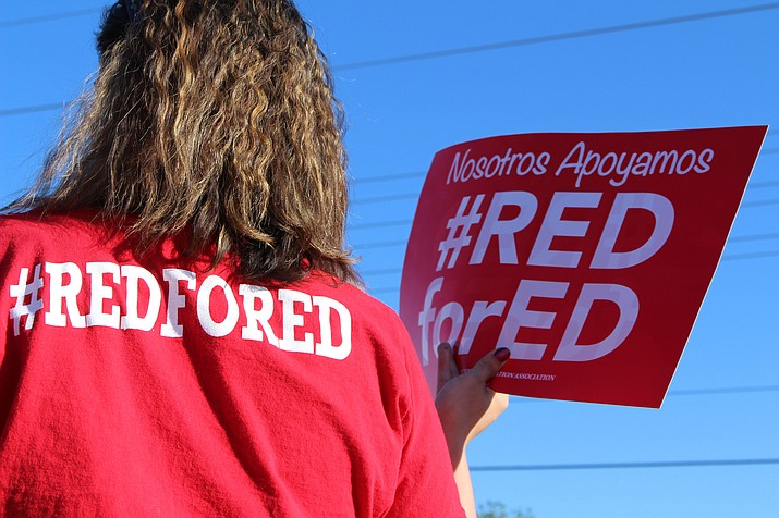 The Arizona State Board of Education hasn't weighed in on whether or not teachers who walked out during the #RedforEd movement will be disciplined, despite superintendent of schools Diane Douglas calling for punishment. (Daily Miner file photo)