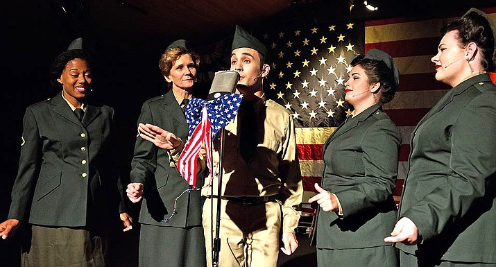 EF Productions' 18th Annual Celebrate America: 1940s USO Holiday Radio Show is done in the style of a live radio broadcast to the troops overseas.
