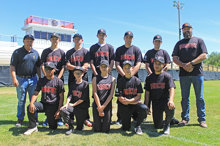 Williams B team includes: Coach Dan Siegfried, Matt Thompson, Danny Siegfried, Preston Ford, Gavyn Fairlie, Oryn Orozco, Joseph Siegfried, Jacob Elliot, Maegan Ford, Jason Olson, Nick Gutierrez, and Coach Rusty Ford. Not pictured: Gabe Lowe, Brighton Cox and Mario Salazar. Wendy Howell/WGCN