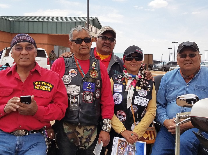 Navajo Hopi Honor Riders and Utah Patriot Riders rode nearly 900 miles from St. George, Utah to Monument Valley, Utah to escort the remains of recently deceased Navajo Code Talker Samuel T. Holiday to his final resting place. (Courtesy of the Navajo Hopi Honor Riders)
