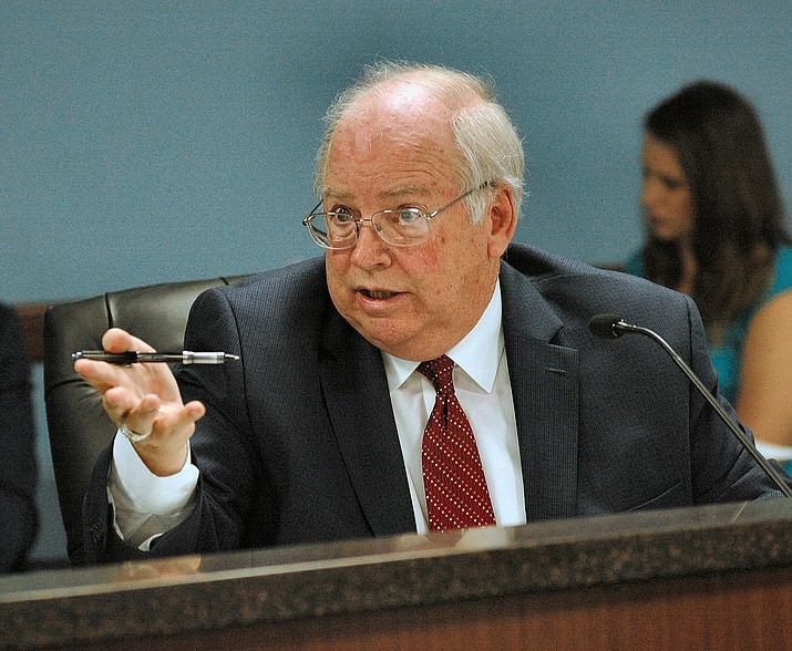 "Andy Tobin wants the Arizona Corporation Commission on which he serves to require that 80 percent of electricity generated in the state to come from ""renewable'' sources by 2050. Photo by Howard Fischer/Capitol Media Services"