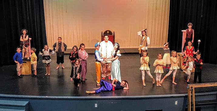 One Stage Family Theatre's cast of 'Aladdin Jr.' (Courtesy)