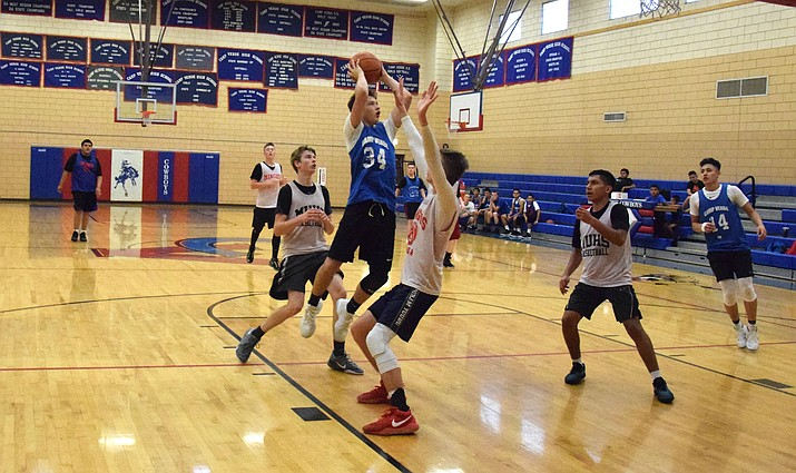 Camp Verde's Jordan Littlefield plays against Mingus Union at home. VVN/James Kelley