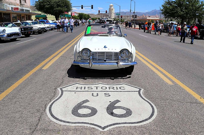 The Fun Run draws hundreds of visitors to the area to celebrate Route 66 from Seligman to Golden Shores and Topock annually in early May. The National Trust for Historic Preservation hopes to inspire people to speak out for Route 66 by putting the Mother Road on its endangered list. (Courtesy photo/file)