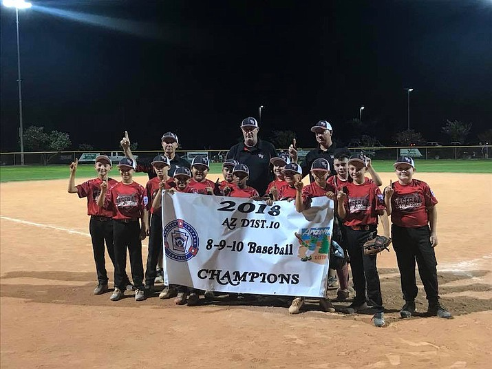 Verde Valley Little League won the 8-9-10 District 10 Baseball All-Stars Little League championship last week. Photo courtesy Brandon Wacker