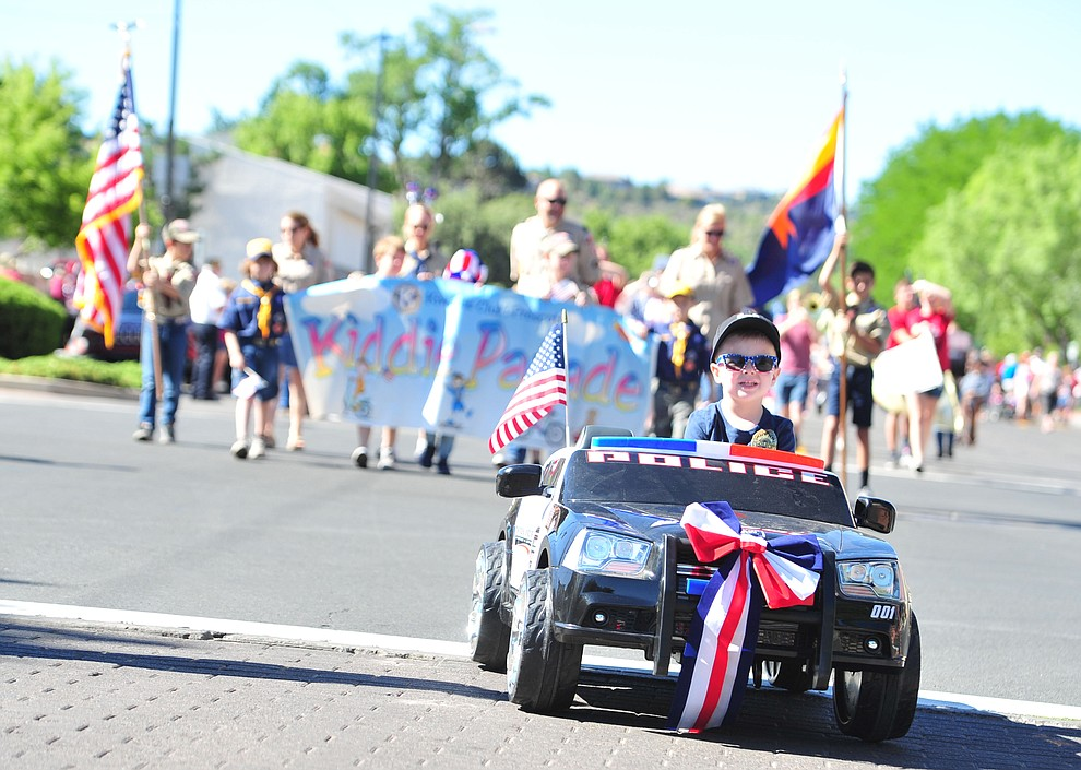 The 77th annual Kiwanis Kiddie Parade begins in downtown Prescott Friday, June 29, 2018.(Les Stukenberg/Courier)