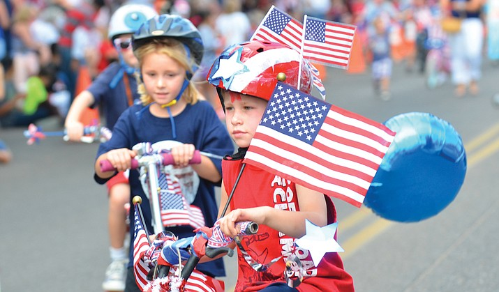 Clarkdale's annual Kids' Parade will start at 9 a.m. from the Clarkdale-Jerome School, down Main Street past Town Park and finish at Town Hall.  Prizes will be issued for:  Best Decorated Pet, Best Decorated Bicycle, Best Decorated Wagon, Most Patriotic, and Most Original.  VVN file photo