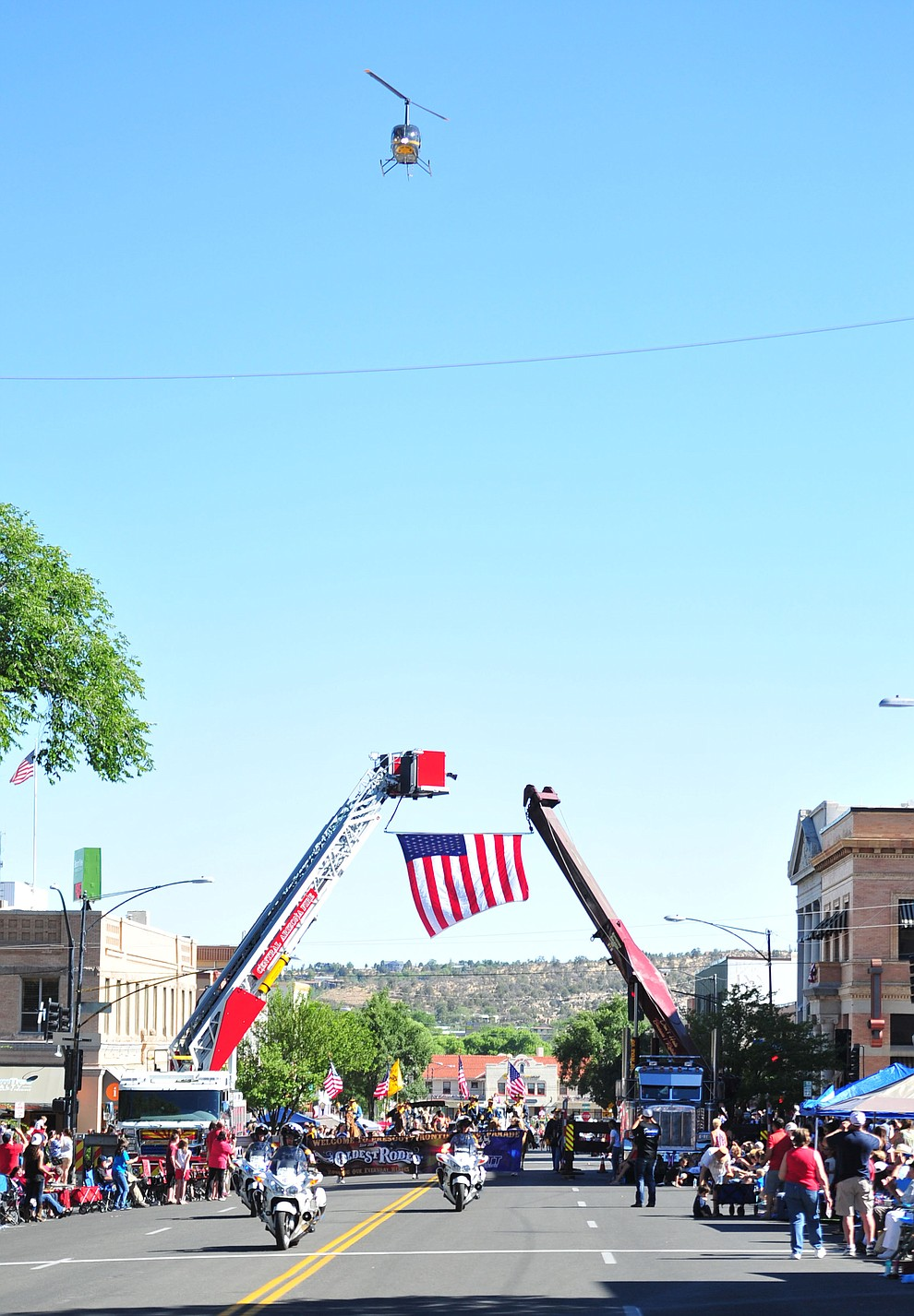 The annual Prescott Frontier Days Parade even included a flyover through the downtown Prescott area Saturday, June 30, 2018.(Les Stukenberg/Courier)