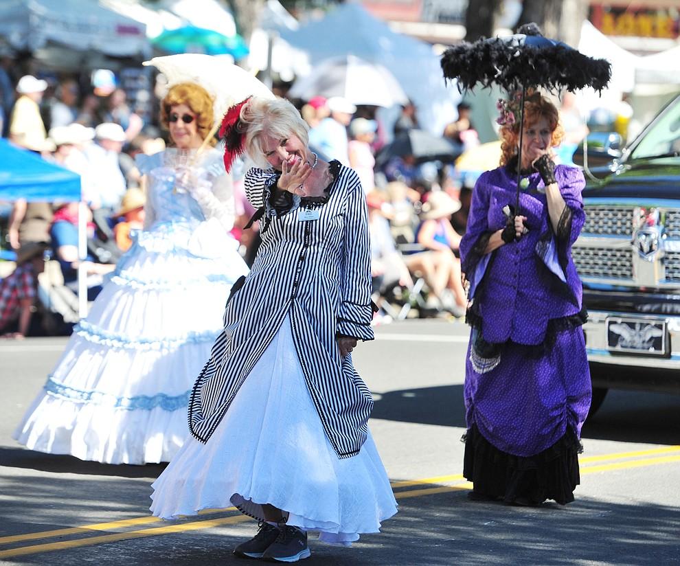 Elks Opera House guild members during the annual Prescott Frontier Days Parade through the downtown Prescott area Saturday, June 30, 2018.(Les Stukenberg/Courier)