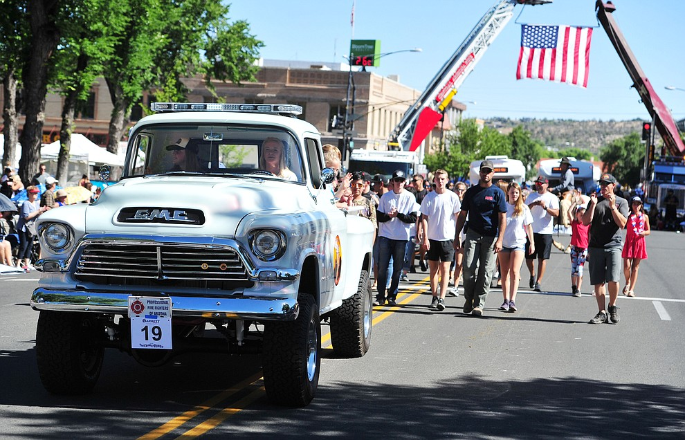 The Jesse Steed Memorial Project during the annual Prescott Frontier Days Parade through the downtown Prescott area Saturday, June 30, 2018.(Les Stukenberg/Courier)