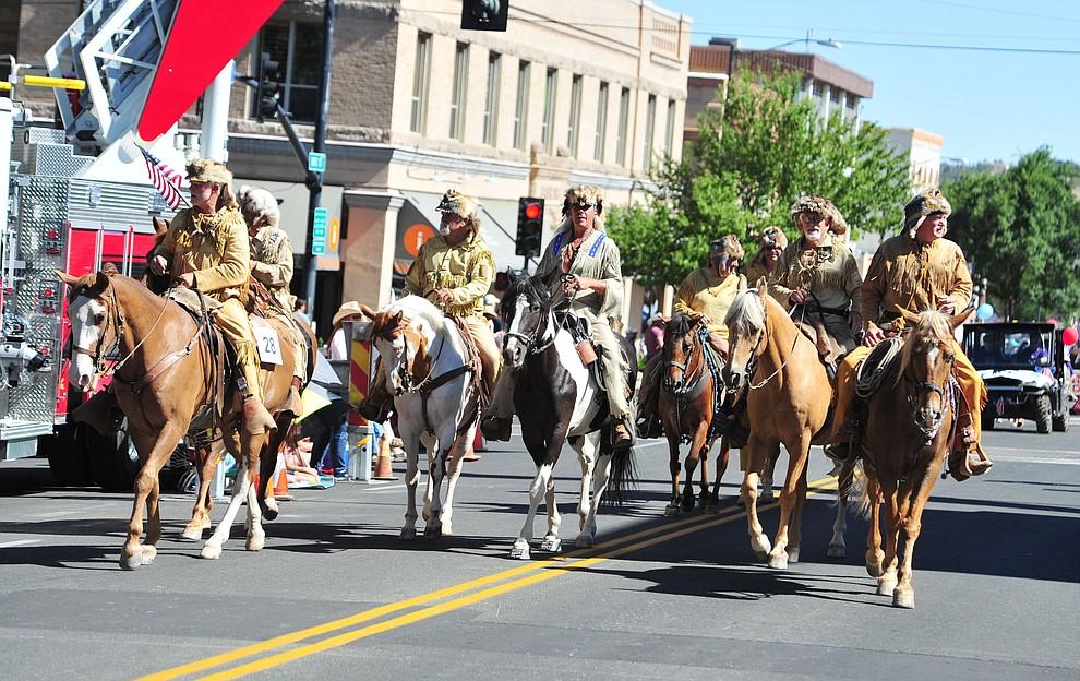 Bill Williams Mountain Men during the annual Prescott Frontier Days Parade through the downtown Prescott area Saturday, June 30, 2018.(Les Stukenberg/Courier)