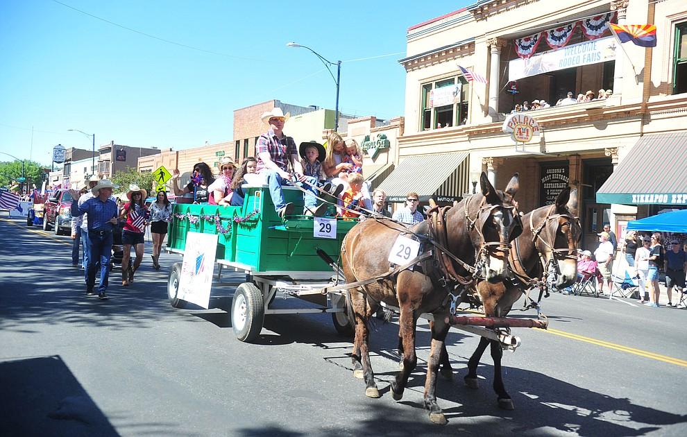 The annual Prescott Frontier Days Parade through the downtown Prescott area Saturday, June 30, 2018.(Les Stukenberg/Courier)