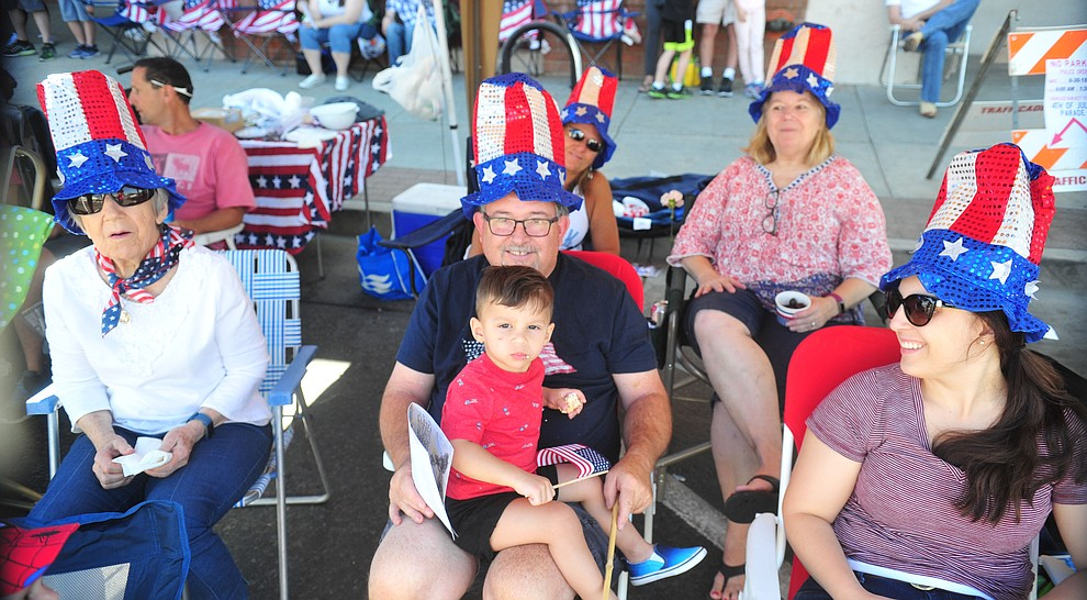 Red, white and blue were the colors of the day during the annual Prescott Frontier Days Parade through the downtown Prescott area Saturday, June 30, 2018.(Les Stukenberg/Courier)