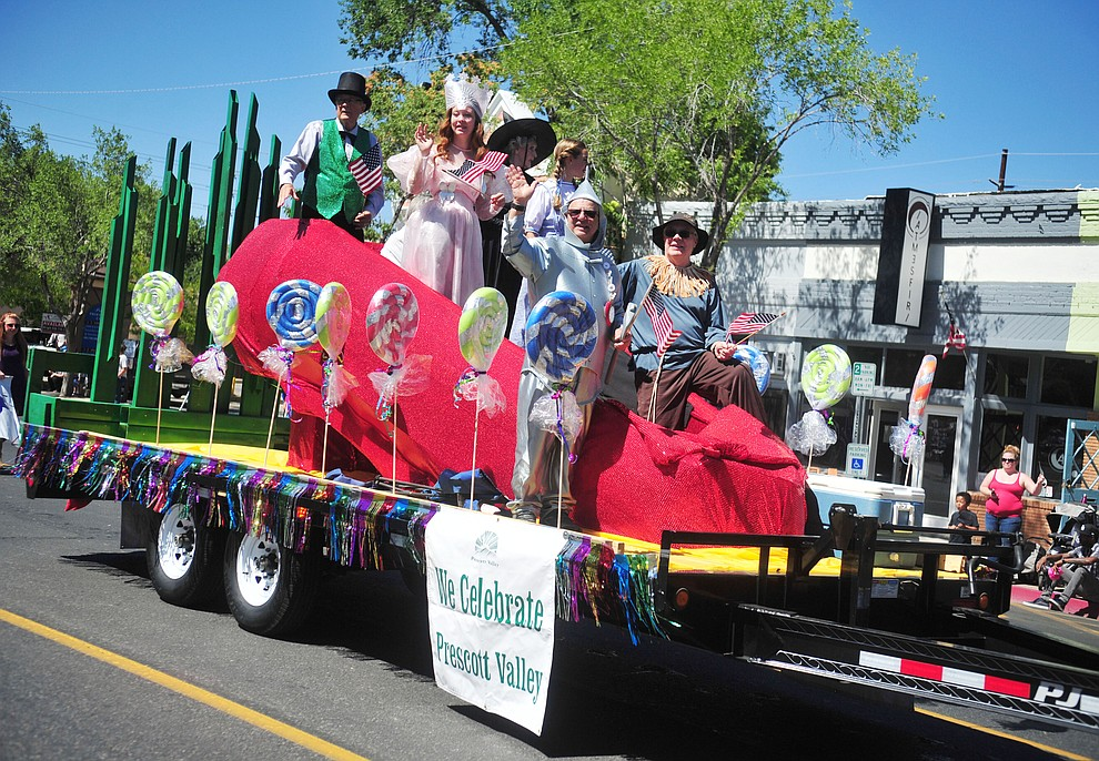 The Town of Prescott Valley went to Oz during the annual Prescott Frontier Days Parade through the downtown Prescott area Saturday, June 30, 2018.(Les Stukenberg/Courier)