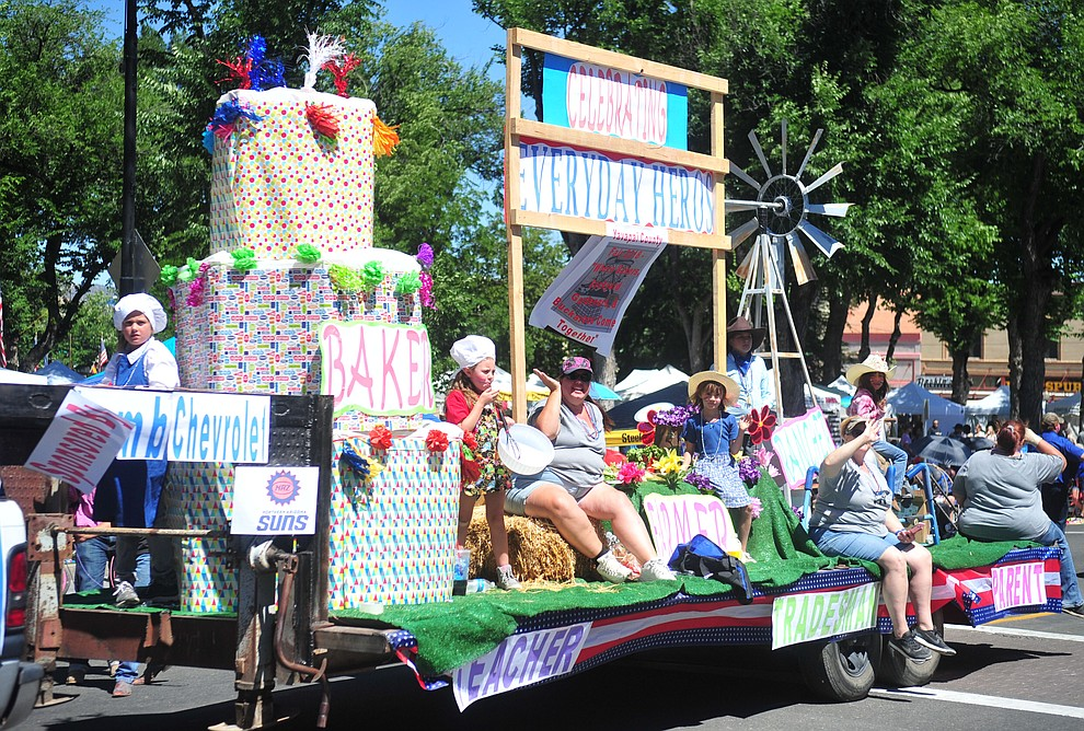 Lamb Chevrolet honored everyday hero's during the annual Prescott Frontier Days Parade through the downtown Prescott area Saturday, June 30, 2018.(Les Stukenberg/Courier)