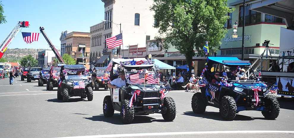 Yavapai County Search and Rescue during the annual Prescott Frontier Days Parade through the downtown Prescott area Saturday, June 30, 2018.(Les Stukenberg/Courier)