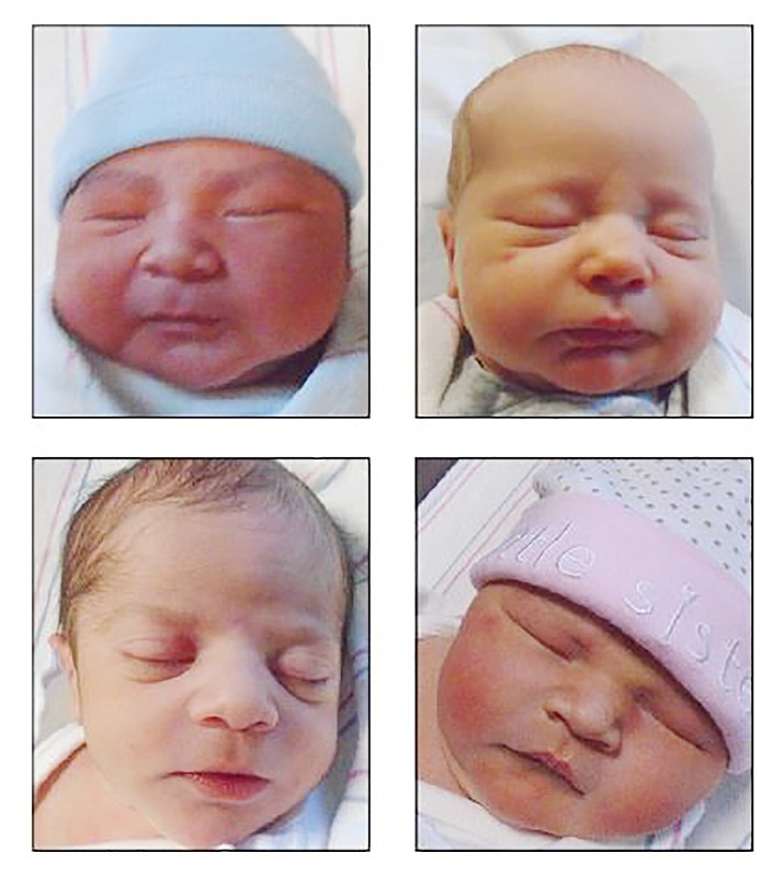 Clockwise from top left: Ariel Espinoza Ayala, Liam Michael Jones, Sophia Mae Lagueux, and Cooper Shelton. (YRMC/Courtesy)