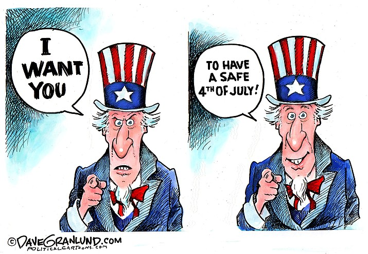 Editorial cartoon (b): July 4, 2018
