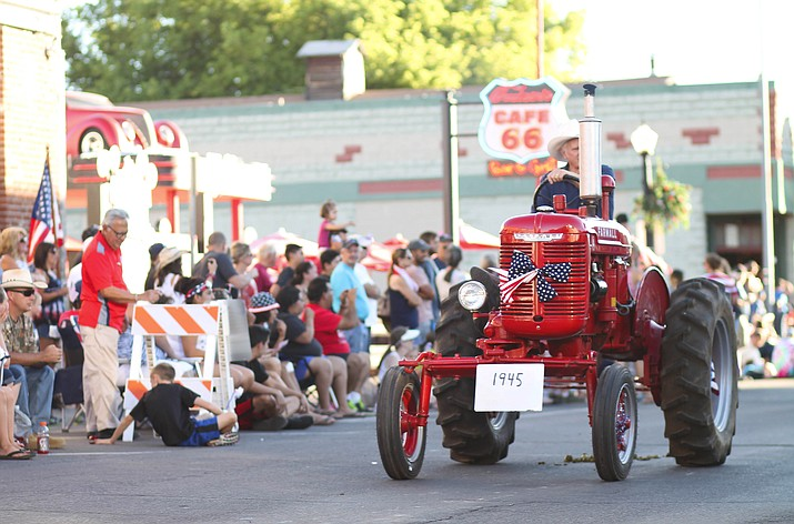 Residents and visitors enjoy the 2017 Fourth of July parade in downtown Williams.