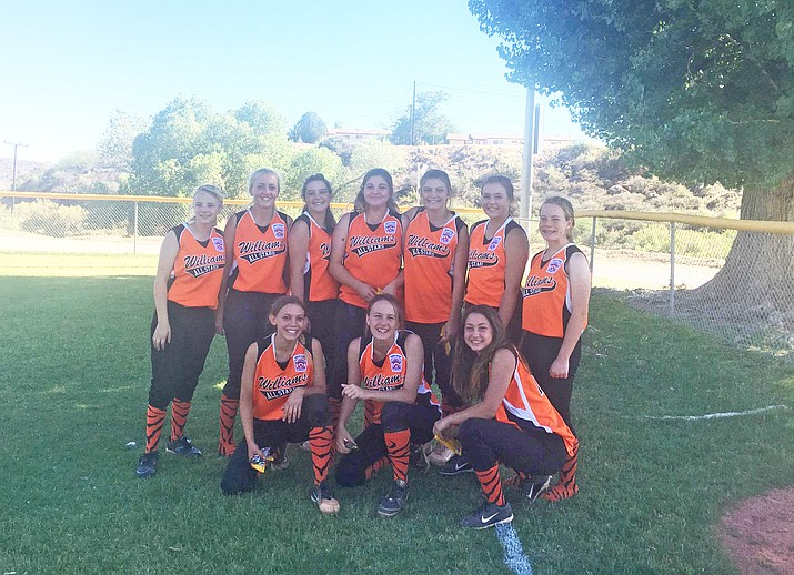 The Williams Juniors Little League softball team placed second at the District 10 All-star tournament. Players include:  Chyanne Echeverria, Shaelee Echeverria, Cayla Fritzinger, Ashlyn Kennelly, Hannah Konkel, Chesnea Larimore, Sydney Mortensen, Aaliyah Pacheco, Chanel Perkins and Kristen Tozer (Submitted photo/WGCN)