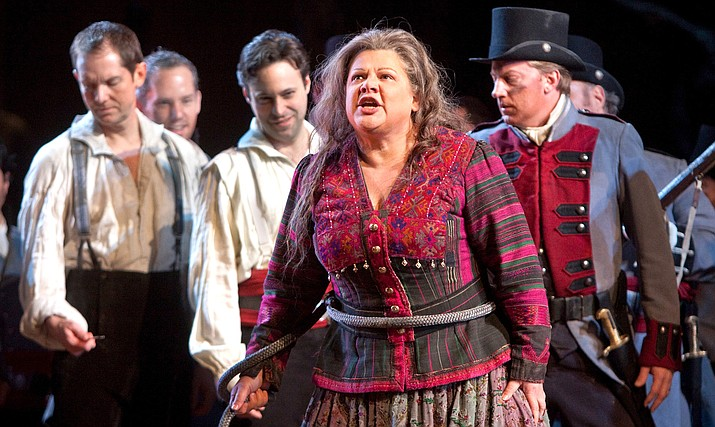 Soprano Anna Netrebko is Leonora, the young noblewoman in love with the troubadour of the title — tenor Yonghoon Lee — but also pursued by Count di Luna, sung by the great baritone Dmitri Hvorostovsky. Mezzo-soprano Dolora Zajick completes the quartet of principals in her signature role of Azucena, the mysterious gypsy woman who sets the dramatic events in motion.