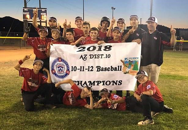 Verde Valley Little League won the District 10 10-11-12 championship last week in Williams. (Photo courtesy Tarin McGuirk)
