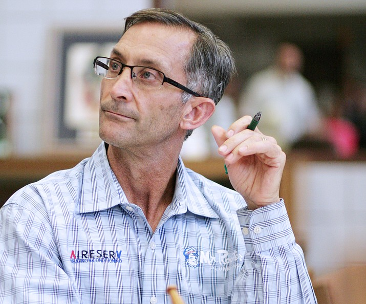 Tuesday, the Camp Verde Unified School District governing board could approve the district's budget for fiscal year 2018-2019. Pictured, Tim Roth, the district governing board president.  VVN/Bill Helm