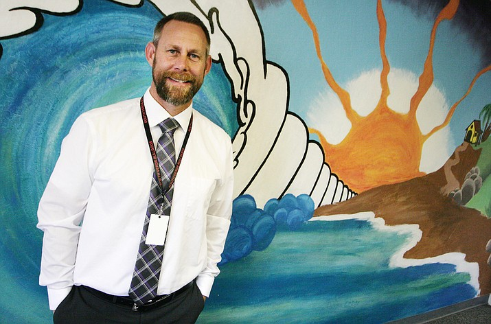 Brian Tankesley has switched careers twice to get where he is now as lead teacher at South Verde High School and Career and Technology Education Director at Camp Verde High School. (Photo by Bill Helm)