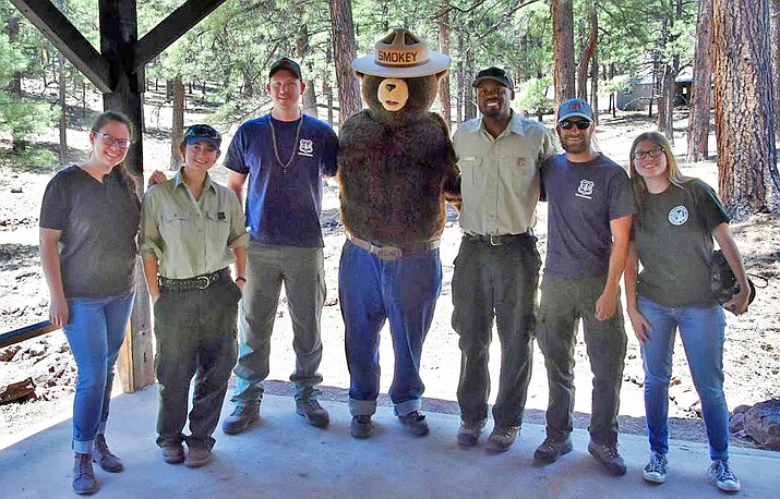 Kaibab National Forest staff spent the day with 4-H campers and counselors teaching them about forest stewardship principles. (Kaibab National Forest)