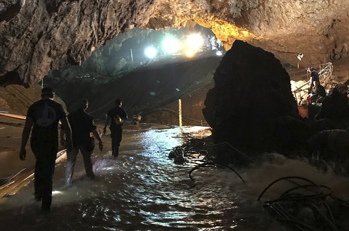 Thailand's Navy SEALs, who were central to the rescue effort, said the remaining four boys and their 25-year-old coach were all brought out safely from the flooded cave Tuesday. (Photo courtesy of Elon Musk)