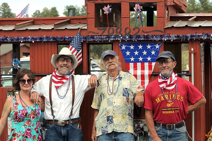 Local groups competed for parade float supremacy at Tusayan's annual Fourth of July parade. (Photo/Bill Fitzgerald)