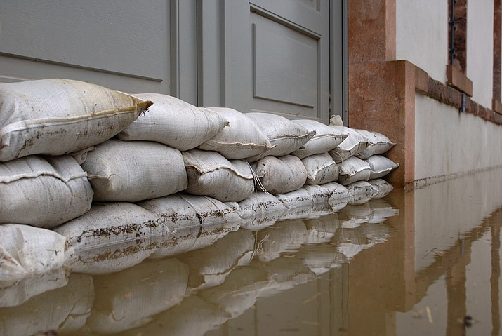 Yavapai County Emergency Management is stocking various locations in the county with sandbags for reducing flood water damage. Anyone is welcome to the sandbags, but must fill the bags themselves with their own shovels.