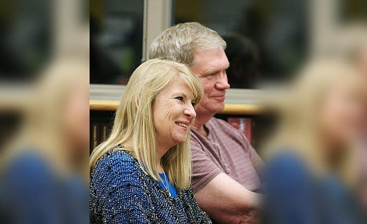 "MUHSD Superintendent Penny Hargrove and her husband Lowell 'Grover' Hargrove. Thursday, the Mingus Union School Board approved the hiring of Lowell Hargrove for what the superintendent calls a ""substitute, temporary position."" VVN/Bill Helm"