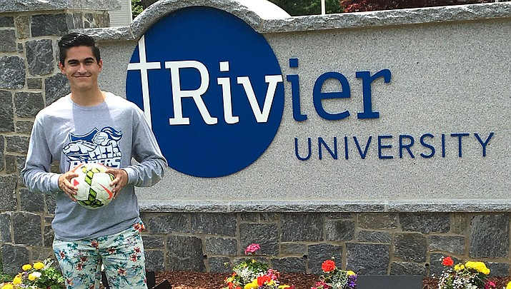 River Sutton recently vistied Rivier University in New Hampshire and the Lee Williams High School graduate decided that's where he'll continue his soccer career. (Courtesy photo)
