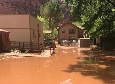 All 200 tourists were succesfully evacuated from Havasu Canyon by 6 p.m. Thursday. The canyon remains closed. Permission granted for use by Heather Mitchell.