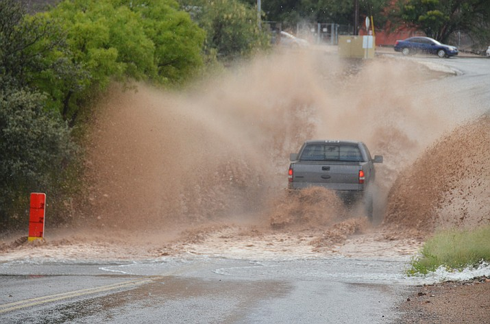 The National Weather Service in Flagstaff has issued a Flash Flood Warning for Yavapai County in the Goodwin fire scar area in west central Arizona, and a Flood Advisory for Yavapai County Prescott, Chino Valley, Prescott Valley and Dewey Humboldt areas in west central Arizona. (File photo)